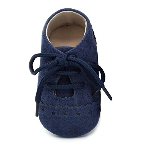 (Fabal Baby Toddler Shoes Sneaker Anti-slip Soft Sole Lace Up Shoes (6~12 Month, Dark Blue) )