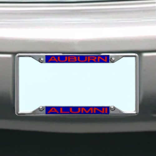 NCAA Auburn Tigers License Plate Frame Alumni (Auburn Tigers Chrome License Plate)
