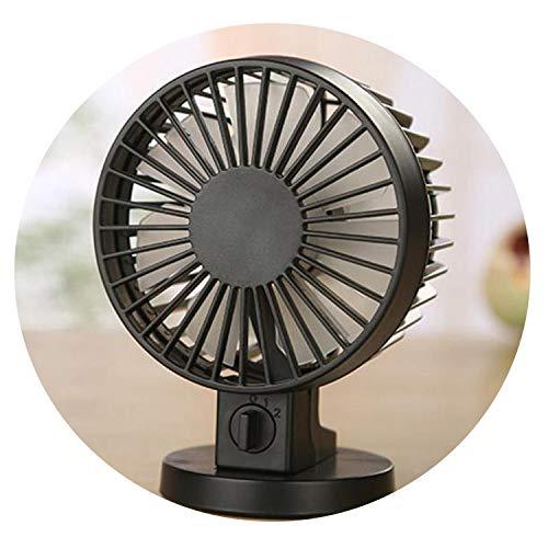 Ultra-Quiet Mini USB Desk Fan Silent Desktop Fan with Double Side Fan Blades Creative Home Office Electric Fan Cooler,China,Blue