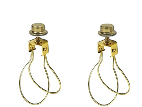 Clip On Bulb Lamp Shades: Upgradelights 2 Lamp Shade Bulb Clip Adapters (Clip on with Shade Attaching  Finials) - Small Lamp Shade - Amazon.com,Lighting