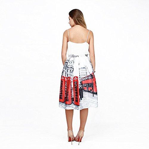 autobus plisse Personnalis numrique Les A La Impression shown des Line Taille femmes mode YYHSO as haute Jupes Jupe f8YHvI