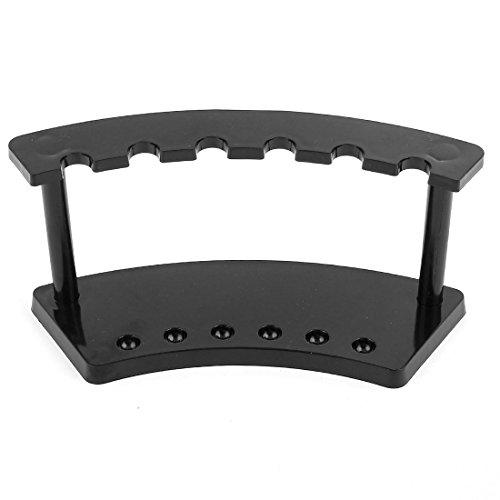Uxcell Plastic Office Desk 6 Position Pen Pencil Holder Stand, Black