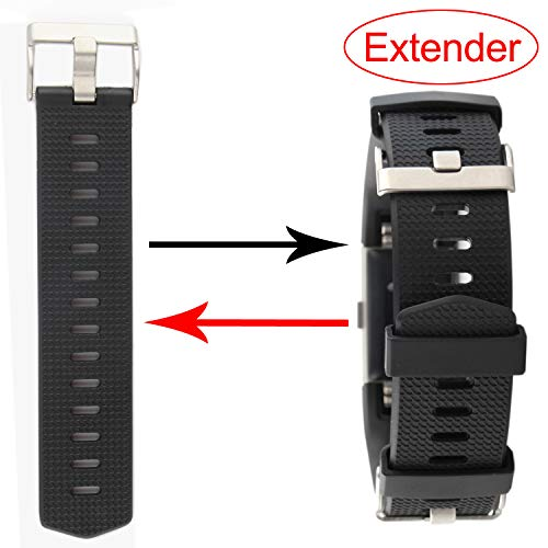 HONECUMI Expander Watch Strap for Fitbit Band Garmin Wristband Larger Sized Wrists or Ankle Wear