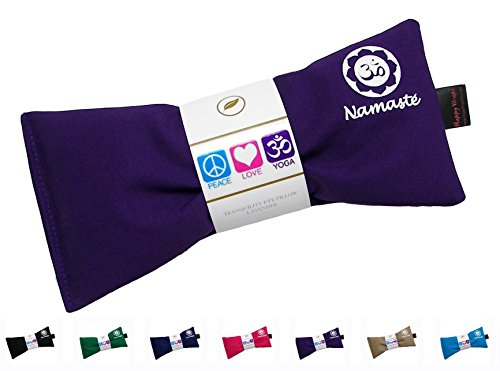 Hot Cold Namaste Lavender Eye Pillow for Yoga, Meditation, Relaxation and Sleep By Happy Wraps - Purple