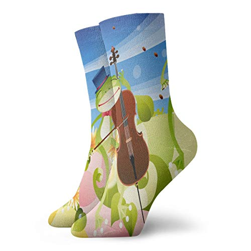 Crew Socks Frogs Playing Musical Instruments Trendy for sale  Delivered anywhere in USA