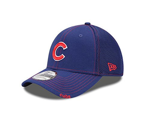 Baseball Mlb Hat - New Era MLB Chicago Cubs 2014 NEO 39Thirty Stretch Fit Cap, Blue, Small