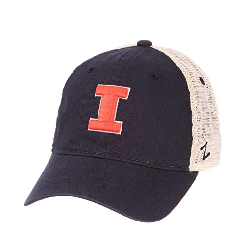 Zephyr Illinois Fighting Illini Adult Relaxed Fit University Meshback Hat - Team Color, Adjustable