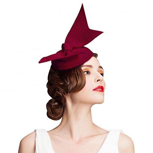 - Handmade Wool Felt Women Angel Wings Fascinator Hat Cocktail Party Show A194 (Wine)