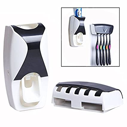 Gearmax® De alta calidad de pasta de dientes automático dispensador Exprimidor Con cepillo de dientes