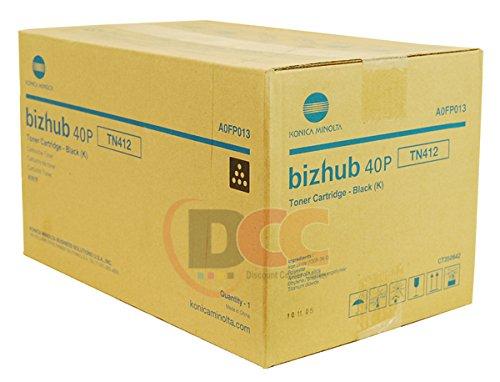 40p Printer (Genuine konica Minolta TN412 Toner Cartridge for Bizhub 40P Bizhub 40PX)