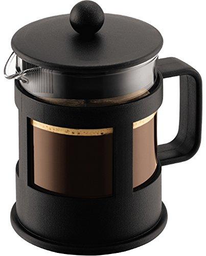 Bodum KENYA Kaffeebereiter (French Press System, Spülmaschinengeeignet, 0,5 liters) schwarz