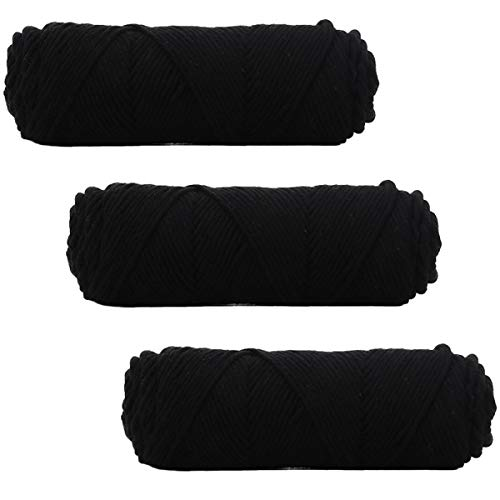 3 Pack of Soft Thickness Warm Chunky Cotton Roving Scarf Knit Yarn for Sweater Scarf Hat Household Crochet Yarn
