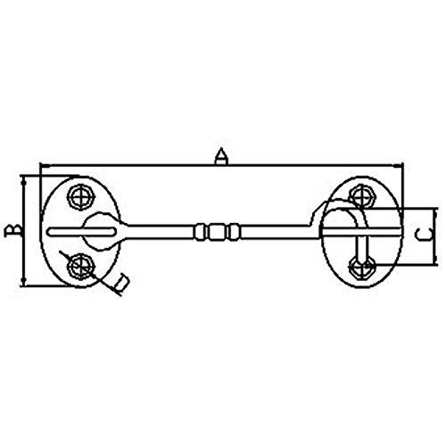 White Water Brass Door Hook