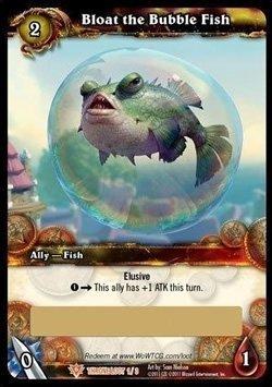 WoW TCG 1 X Bloat The Bubble Fish - Loot Card - Unscratched - Unscratched Wow Loot Cards (Tcg Loot Card Mount)