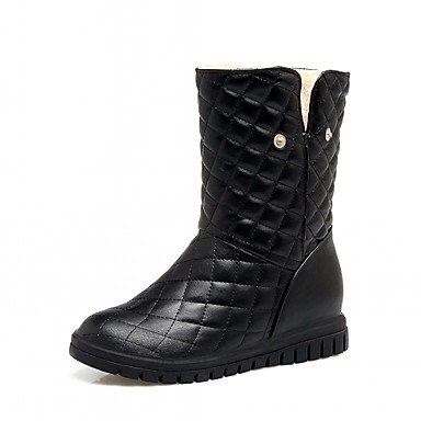 Boots Toe 5 EU36 Spring Ankle Round Heel US5 Casual Leatherette For UK3 Office Career Wedge Boots Women'S Winter Boots 5 Fashion Bowknot amp;Amp; RTRY CN35 Booties Shoes OgBYwqtP