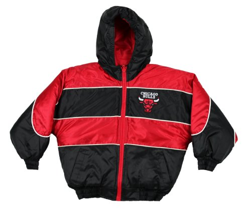 Proplayer Jr. Chicago Bulls NBA Boys Sideline Reversible Coat (Medium, Black / Red / White) by NBA Sports