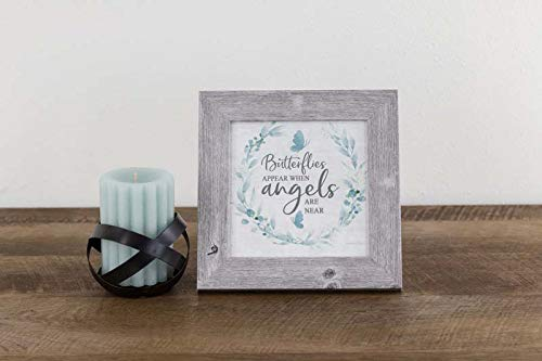 Summer Snow Butterflies Appear When Angels are Near Heaven Loved One Sympathy Framed Decor Art Picture Sign -