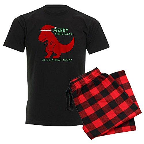 CafePress Merry Christmas Cute Dinosaur Unisex Novelty Cotton Pajama Set, Comfortable PJ Sleepwear]()