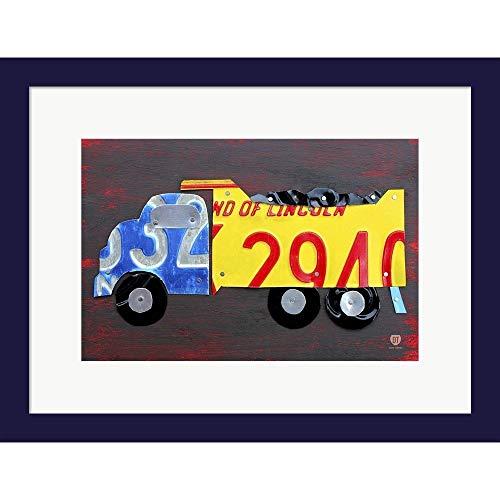 Metaverse Design Turnpike 'Dump Truck' Framed Art