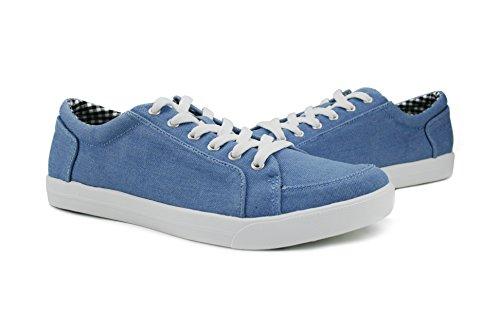 Burnetie Mujeres Blue Leaf Sneaker Ligero