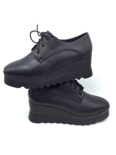 de nbsp;– nbsp;– Piel de Gabriele nbsp;Martina Black Ivy cordones Shoes Eco nbsp;Zapatos negro bajas 6z5twxq