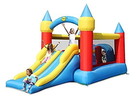 Happy Hop Obstacle Course Bouncy Castle With Double Slide: Amazon ...