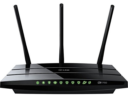TP-LINK Archer C7 V1 AC1750 Dual Band Wireless AC Gigabit Router, 2.4GHz 450Mbps+5Ghz 1300Mbps, 2 USB Port, IPv6, Guest Network (Certified Refurbished).