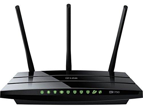 TP-LINK Archer C7 V1 AC1750 Dual Band Wireless AC Gigabit Router, 2.4GHz 450Mbps+5Ghz 1300Mbps, 2 USB Port, IPv6, Guest Network (Certified Refurbished).