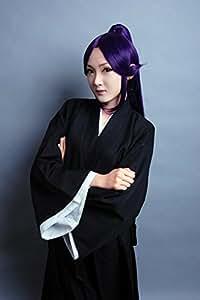 HH Building Bleach Yoruichi Shihouin Long Ponytail Wig Anime Cosplay Costume Wig (Purple)