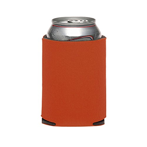 100 Texas Orange Collapsible Can Coolers For Sublimation Or Screen Printing by TrueFire