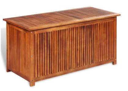 SKB Family Box Storage Deck Acacia Wood Outdoor Patio Bench Garden Pool Container Bin Seat Furniture Chest Weather Keep Clutter Hardwood storing by SKB family