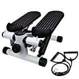 Huikai Stepper Pedal, Household Hydraulic Mute Stepper Pedal Sports Stepper Legs Exercise & Fitness Step Machines with Resistance Bands for Wowen