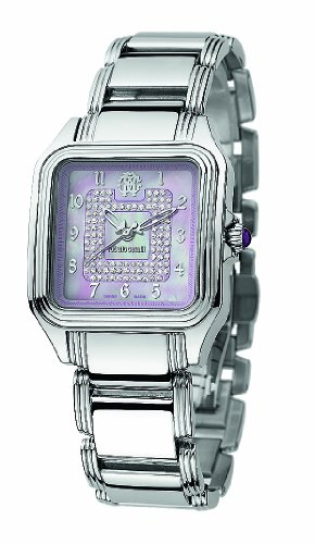Quartz Movement Stainless Steel Bracelet - Roberto Cavalli Ladies Venom Analogue Watch R7253192535 with Quartz Movement, Stainless Steel Bracelet and Pink Dial