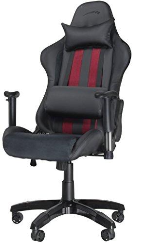 Speedlink REGGER Gaming Chair Stuhl (Kunstleder und Kunstwildleder, Rückenlehnenhöhe: ca. 81 cm) schwarz