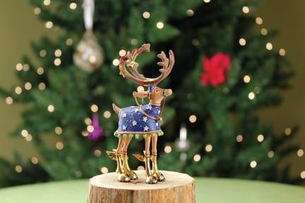 Patience Brewster Set of 8 Mini Dashaway Reindeer Ornaments Krinkles