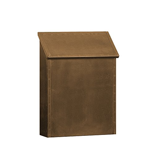 vertical wall mount mailbox. Salsbury Industries 4420 Antique Brass Mailbox Standard Surface Mounted  Vertical Style - Security Mailboxes Amazon.com Vertical Wall Mount Mailbox L