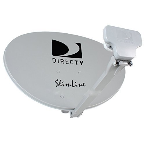 READY TO INSTALL PACKAGE : Directv HD SATELLITE DISH w/ SWM3 LNB + RG6 COAXIAL CABLES INCLUDED Ka/ku Slim Line Dish Antenna SL3 SINGLE OUTPUT W/ 4 PORT SPLITTER, 21V POWER INSERTER