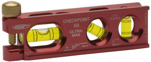 CHECKPOINT 0303R Ultra-Mini G3 Torpedo Level, - Checkpoint Level Torpedo