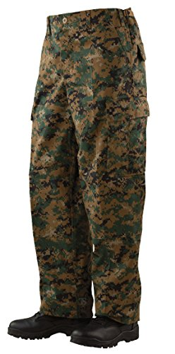 (Tru-Spec BDU Pants with Cell Phone Pocket - Woodland Digital - Medium/Regular)