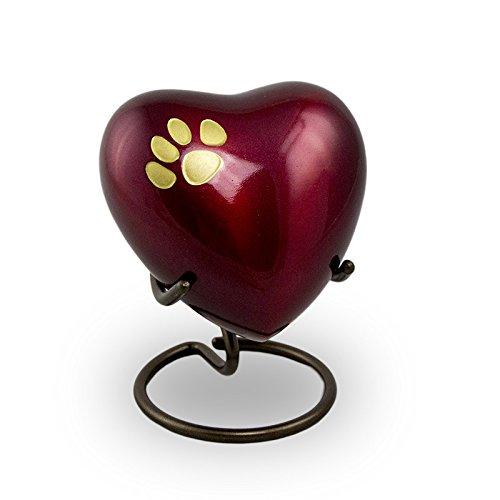 Odyssey Pet Paw Heart Keepsake Crimson