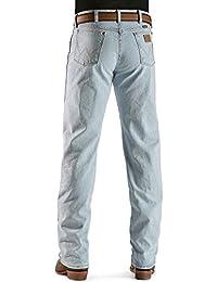 Men's 13Mwz Jeans Cowboy Cut Original Fit Prewashed Bleach Indigo 42W x 34L