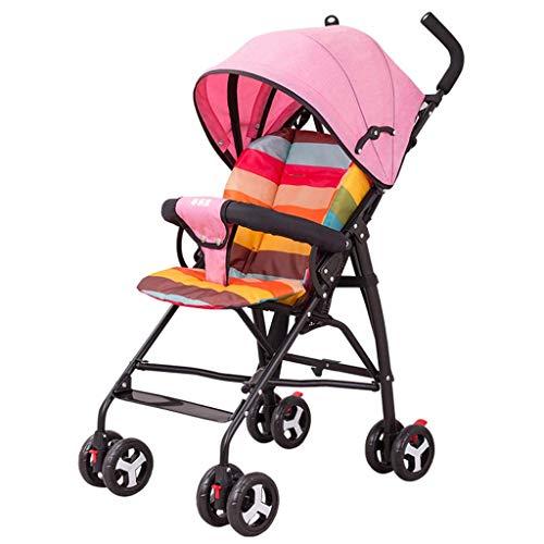 Baby Stroller Child Lightweight Trolley Ultra Light Portable Simple Folding Load Bearing 25kg Spring Shock 3 Gear Adjustable Silent Tire (Only 4.3kg) Roscloud@ (Trolley Cart Yarn)