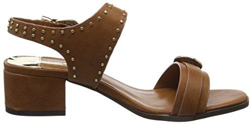 Block Heel con Dorothy tacón Marrón Mujer Brown Sandalias Perkins EUq5zw