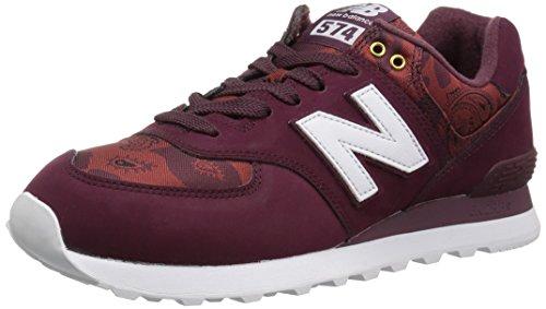 New Balance Men's 574 V2 Paisley Camo Sneaker, Driftwood/White, 18 D US