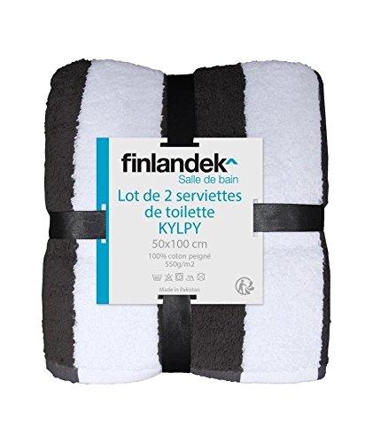 Juego de 2 toallas de baño 50 x 100 cm, diseño de flores negras Finlandek Kylpy: Amazon.es: Bricolaje y herramientas