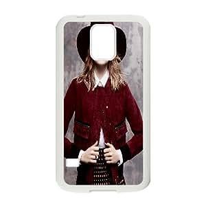 [Emma Stone] Emma Stone for VOGUE Case for Samsung Galaxy S5, Samsung Galaxy S5 Case Hardshell for Women {White}
