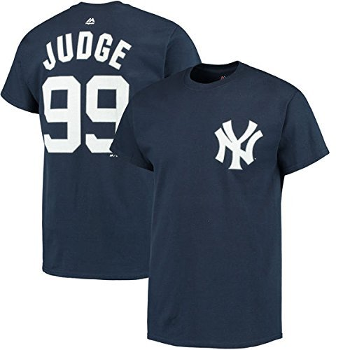 Number Mlb Name Player Mens (VF Aaron Judge New York Yankees #99 MLB Mens BIG & TALL Player Name & Number T-shirt (2XLT))