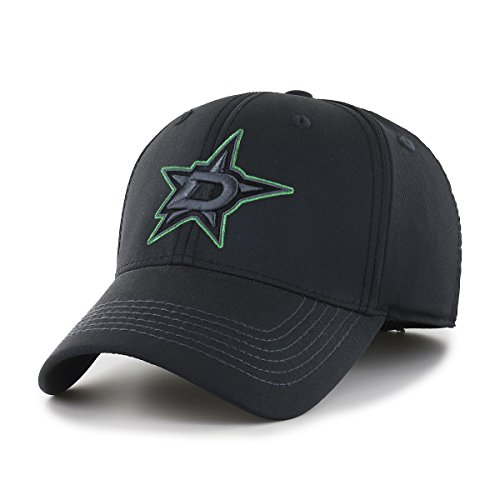 OTS NHL Dallas Stars Men's Wilder Center Stretch Fit Hat, Black, Large/X-Large
