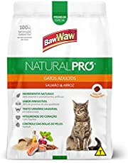 Ração Baw Waw Natural Pro para gatos adultos sabor Salmão e Arroz - 2,5kg