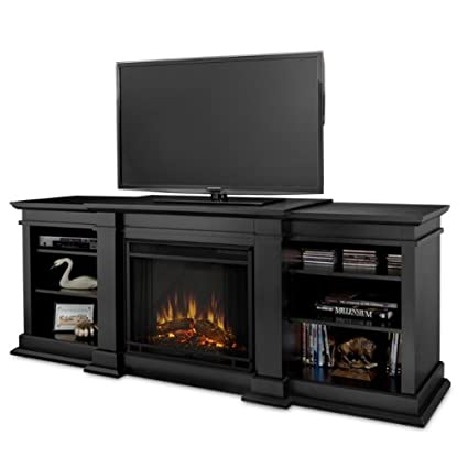 amazon com real flame fresno g1200 x b entertainment unit in black rh amazon com  entertainment center with fireplace black friday
